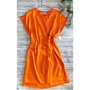 Antonio Melani Silk Faux Wrap Dress